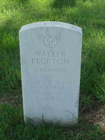 BECKTON (VETERAN WWII), WALTER - Pulaski County, Arkansas | WALTER BECKTON (VETERAN WWII) - Arkansas Gravestone Photos