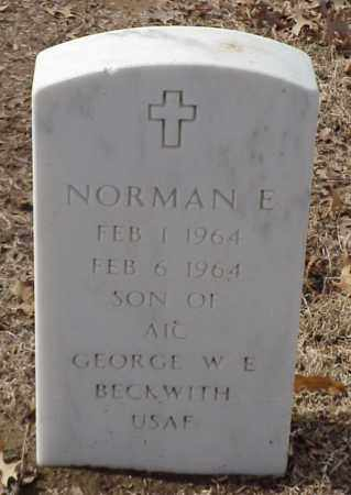 BECKWITH, NORMAN E - Pulaski County, Arkansas | NORMAN E BECKWITH - Arkansas Gravestone Photos