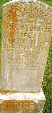 TURNAGE BEED, ANNIE - Pulaski County, Arkansas | ANNIE TURNAGE BEED - Arkansas Gravestone Photos