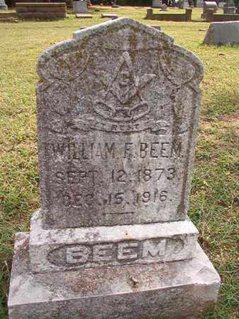BEEM, WILLIAM F - Pulaski County, Arkansas | WILLIAM F BEEM - Arkansas Gravestone Photos