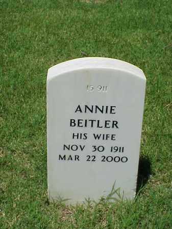 BEITLER, ANNIE - Pulaski County, Arkansas | ANNIE BEITLER - Arkansas Gravestone Photos