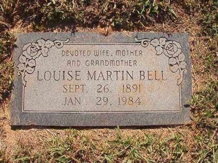 MARTIN BELL, LOUISE - Pulaski County, Arkansas | LOUISE MARTIN BELL - Arkansas Gravestone Photos