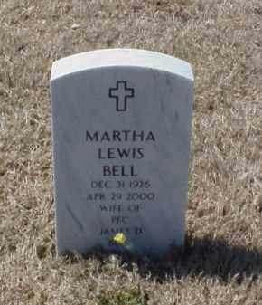 LEWIS BELL, MARTHA - Pulaski County, Arkansas | MARTHA LEWIS BELL - Arkansas Gravestone Photos
