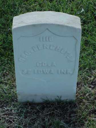 BENCHOTER (VETERAN UNION), GEORGE - Pulaski County, Arkansas | GEORGE BENCHOTER (VETERAN UNION) - Arkansas Gravestone Photos