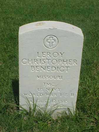 BENEDICT (VETERAN 2 WARS), LEROY CHRISTOPHER - Pulaski County, Arkansas | LEROY CHRISTOPHER BENEDICT (VETERAN 2 WARS) - Arkansas Gravestone Photos