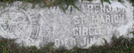 BENJAMIN, WANETA - Pulaski County, Arkansas | WANETA BENJAMIN - Arkansas Gravestone Photos