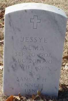BENNETT, JESSYE ALMA - Pulaski County, Arkansas | JESSYE ALMA BENNETT - Arkansas Gravestone Photos