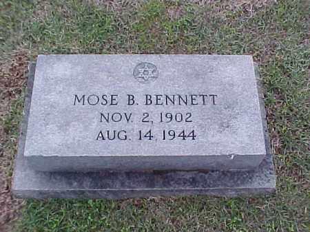 BENNETT, MOSE B - Pulaski County, Arkansas | MOSE B BENNETT - Arkansas Gravestone Photos