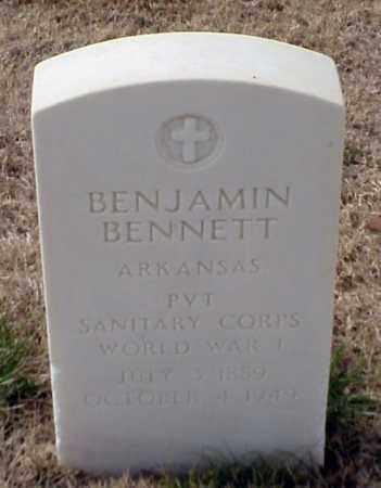 BENNETT (VETERAN WWI), BENJAMIN - Pulaski County, Arkansas | BENJAMIN BENNETT (VETERAN WWI) - Arkansas Gravestone Photos