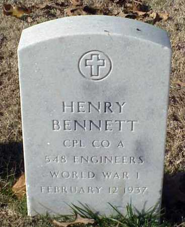 BENNETT (VETERAN WWI), HENRY - Pulaski County, Arkansas | HENRY BENNETT (VETERAN WWI) - Arkansas Gravestone Photos