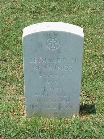 BENNINGS (VETERAN WWI), LEONARD H - Pulaski County, Arkansas | LEONARD H BENNINGS (VETERAN WWI) - Arkansas Gravestone Photos