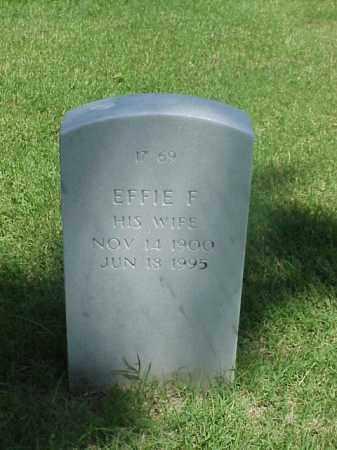 BENNISH, EFFIE F - Pulaski County, Arkansas | EFFIE F BENNISH - Arkansas Gravestone Photos