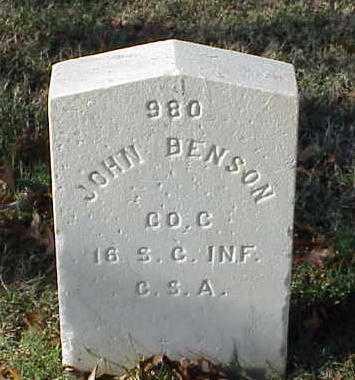 BENSON (VETERAN CSA), JOHN - Pulaski County, Arkansas | JOHN BENSON (VETERAN CSA) - Arkansas Gravestone Photos