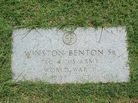 BENTON, SR (VETERAN WWII), WINSTON - Pulaski County, Arkansas | WINSTON BENTON, SR (VETERAN WWII) - Arkansas Gravestone Photos