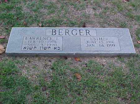 BERGER, ESTHER - Pulaski County, Arkansas | ESTHER BERGER - Arkansas Gravestone Photos