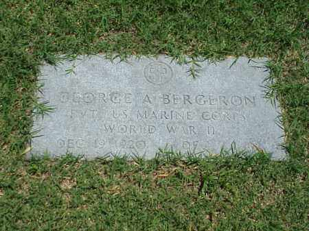 BERGERON (VETERAN WWII), GEORGE A - Pulaski County, Arkansas | GEORGE A BERGERON (VETERAN WWII) - Arkansas Gravestone Photos