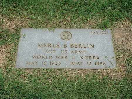 BERLIN (VETERAN 2 WARS), MERLE B - Pulaski County, Arkansas | MERLE B BERLIN (VETERAN 2 WARS) - Arkansas Gravestone Photos