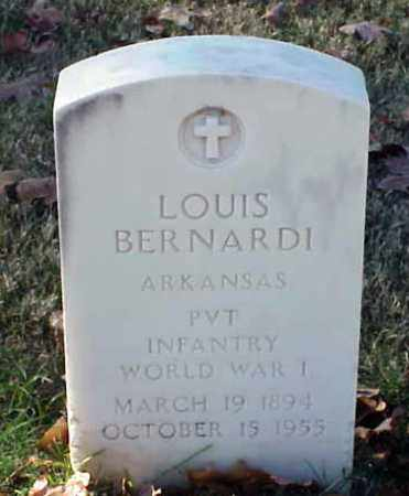 BERNARDI (VETERAN WWI), LOUIS - Pulaski County, Arkansas | LOUIS BERNARDI (VETERAN WWI) - Arkansas Gravestone Photos