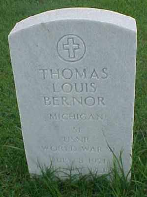 BERNOR (VETERAN WWII), THOMAS LOUIS - Pulaski County, Arkansas | THOMAS LOUIS BERNOR (VETERAN WWII) - Arkansas Gravestone Photos