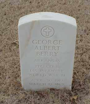 BERRY  (VETERAN WWII), GEORGE ALBERT - Pulaski County, Arkansas | GEORGE ALBERT BERRY  (VETERAN WWII) - Arkansas Gravestone Photos