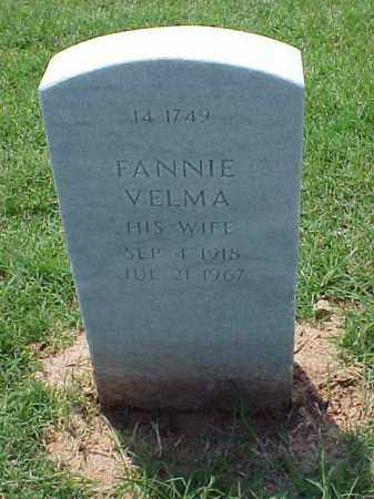 BERRY, FANNIE VELMA - Pulaski County, Arkansas | FANNIE VELMA BERRY - Arkansas Gravestone Photos