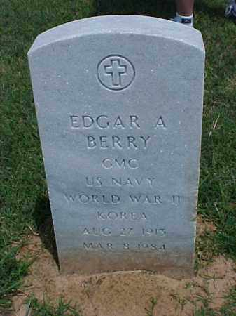 BERRY (VETERAN 2 WARS), EDGAR A - Pulaski County, Arkansas | EDGAR A BERRY (VETERAN 2 WARS) - Arkansas Gravestone Photos