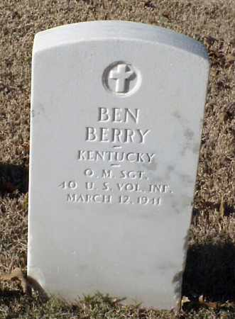 BERRY (VETERAN), BEN - Pulaski County, Arkansas | BEN BERRY (VETERAN) - Arkansas Gravestone Photos