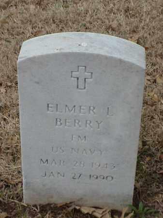 BERRY (VETERAN), ELMER L - Pulaski County, Arkansas | ELMER L BERRY (VETERAN) - Arkansas Gravestone Photos