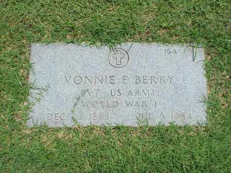 BERRY (VETERAN WWI), VONNIE E - Pulaski County, Arkansas | VONNIE E BERRY (VETERAN WWI) - Arkansas Gravestone Photos