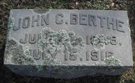 BERTHE, JOHN CARLEN - Pulaski County, Arkansas | JOHN CARLEN BERTHE - Arkansas Gravestone Photos