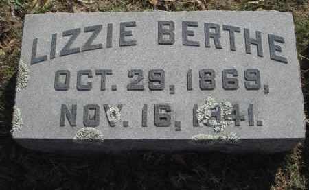 BERTHE, MARTHA ELIZABETH - Pulaski County, Arkansas | MARTHA ELIZABETH BERTHE - Arkansas Gravestone Photos