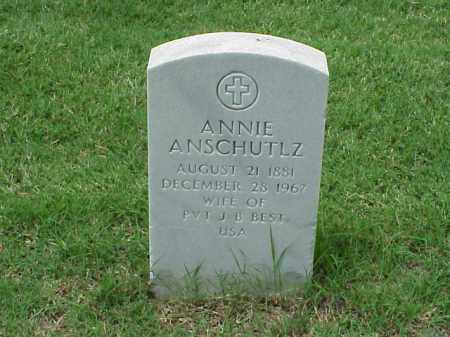 ANSCHUTLZ BEST, ANNIE - Pulaski County, Arkansas | ANNIE ANSCHUTLZ BEST - Arkansas Gravestone Photos