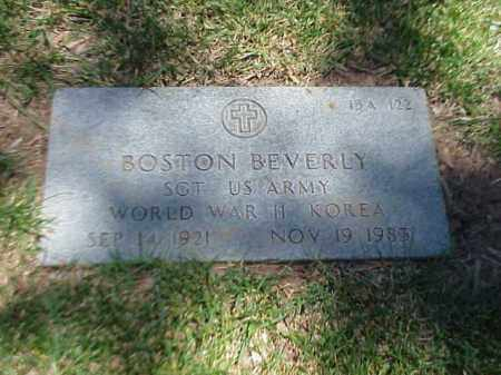 BEVERLY (VETERAN 2 WARS), BOSTON - Pulaski County, Arkansas | BOSTON BEVERLY (VETERAN 2 WARS) - Arkansas Gravestone Photos