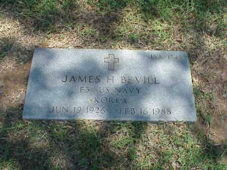 BEVILL (VETERAN KOR), JAMES H - Pulaski County, Arkansas | JAMES H BEVILL (VETERAN KOR) - Arkansas Gravestone Photos