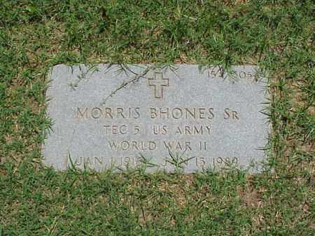 BHONES, SR (VETERAN WWII), MORRIS - Pulaski County, Arkansas | MORRIS BHONES, SR (VETERAN WWII) - Arkansas Gravestone Photos