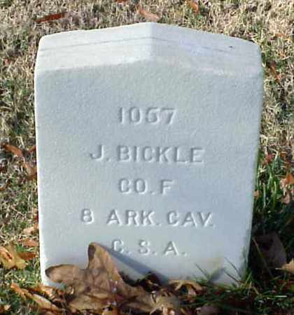 BICKLE (VETERAN CSA), J - Pulaski County, Arkansas | J BICKLE (VETERAN CSA) - Arkansas Gravestone Photos