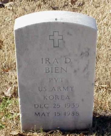 BIEN (VETERAN KOR), IRA D - Pulaski County, Arkansas | IRA D BIEN (VETERAN KOR) - Arkansas Gravestone Photos