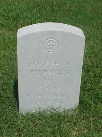 BIERMAN (VETERAN WWI), JOSEPH W - Pulaski County, Arkansas | JOSEPH W BIERMAN (VETERAN WWI) - Arkansas Gravestone Photos