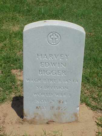 BIGGER (VETERAN WWI), HARVEY EDWIN - Pulaski County, Arkansas | HARVEY EDWIN BIGGER (VETERAN WWI) - Arkansas Gravestone Photos