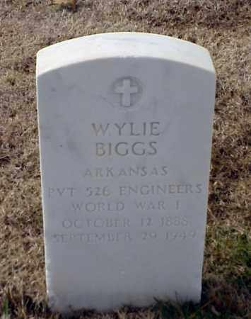 BIGGS (VETERAN WWI), WYLIE - Pulaski County, Arkansas | WYLIE BIGGS (VETERAN WWI) - Arkansas Gravestone Photos