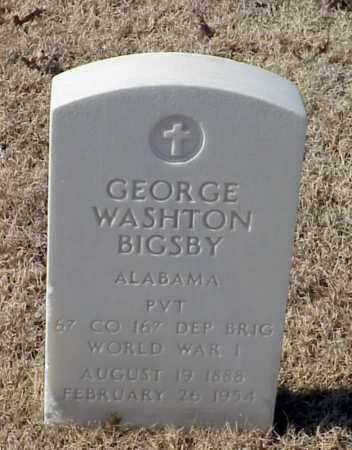 BIGSBY (VETERAN WWI), GEORGE WASHINGTON - Pulaski County, Arkansas | GEORGE WASHINGTON BIGSBY (VETERAN WWI) - Arkansas Gravestone Photos