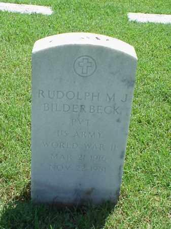 BILDERBECK (VETERAN WWII), RUDOLPH M J - Pulaski County, Arkansas | RUDOLPH M J BILDERBECK (VETERAN WWII) - Arkansas Gravestone Photos