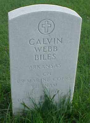 BILES (VETERAN VIET), CALVIN WEBB - Pulaski County, Arkansas | CALVIN WEBB BILES (VETERAN VIET) - Arkansas Gravestone Photos