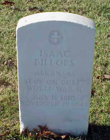 BILLOPS (VETERAN WWII), ISAAC - Pulaski County, Arkansas | ISAAC BILLOPS (VETERAN WWII) - Arkansas Gravestone Photos