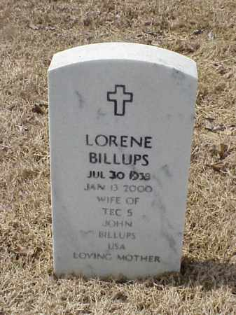 BILLUPS, LORENE - Pulaski County, Arkansas | LORENE BILLUPS - Arkansas Gravestone Photos