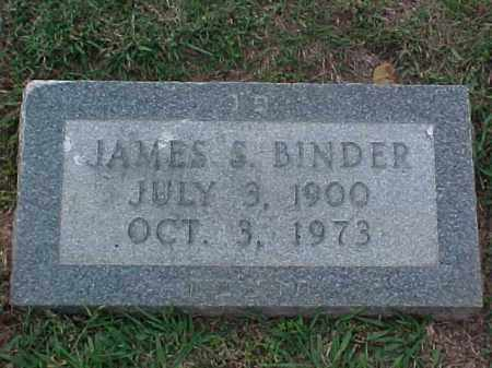 BINDER, JAMES S - Pulaski County, Arkansas | JAMES S BINDER - Arkansas Gravestone Photos