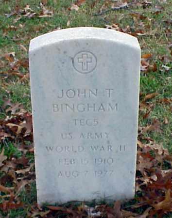 BINGHAM (VETERAN WWII), JOHN T - Pulaski County, Arkansas | JOHN T BINGHAM (VETERAN WWII) - Arkansas Gravestone Photos