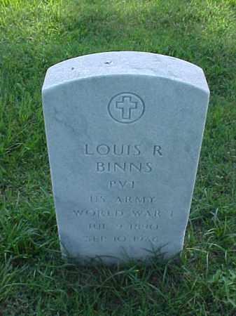 BINNS  (VETERAN WWI), LOUIS R - Pulaski County, Arkansas | LOUIS R BINNS  (VETERAN WWI) - Arkansas Gravestone Photos
