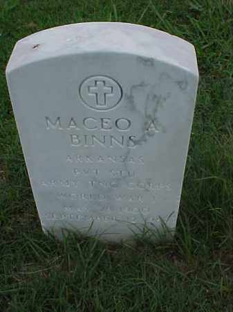 BINNS (VETERAN WWI), MACEO A - Pulaski County, Arkansas | MACEO A BINNS (VETERAN WWI) - Arkansas Gravestone Photos