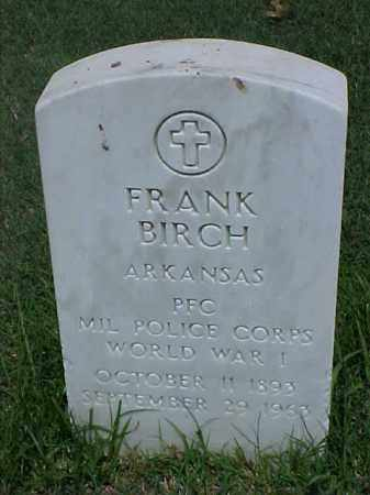 BIRCH (VETERAN WWI), FRANK - Pulaski County, Arkansas | FRANK BIRCH (VETERAN WWI) - Arkansas Gravestone Photos